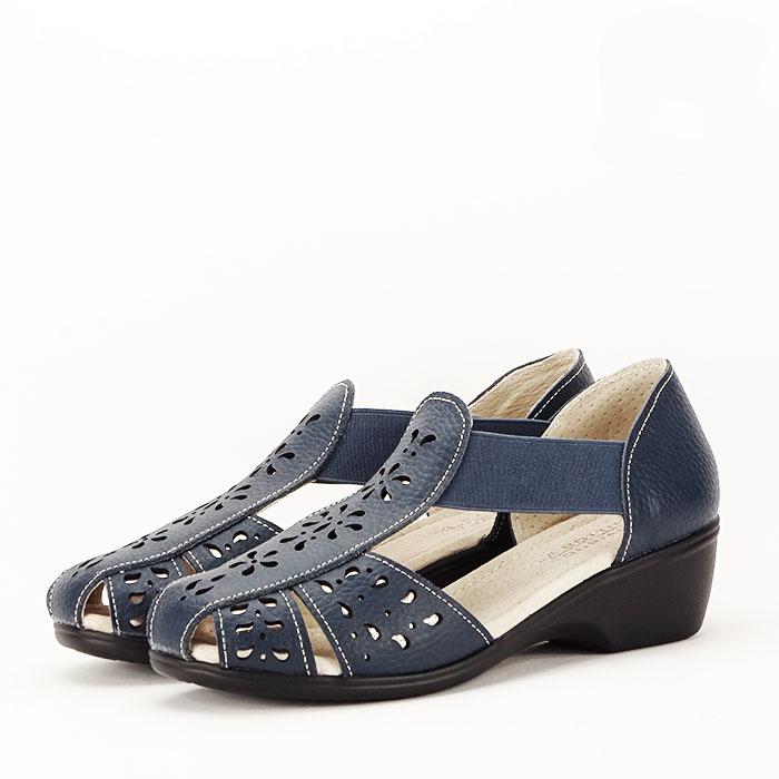Sandale bleumarin din piele naturala Ozana 0