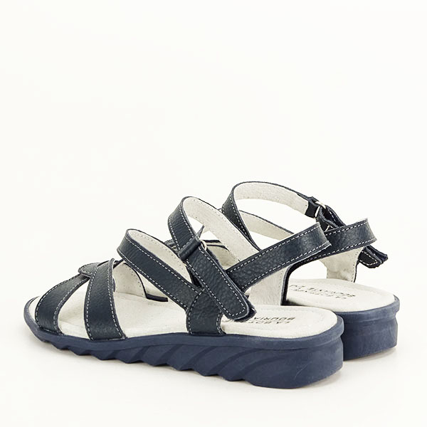 Sandale bleumarin din piele naturala Suzana [3]
