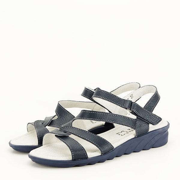 Sandale bleumarin din piele naturala Suzana [0]
