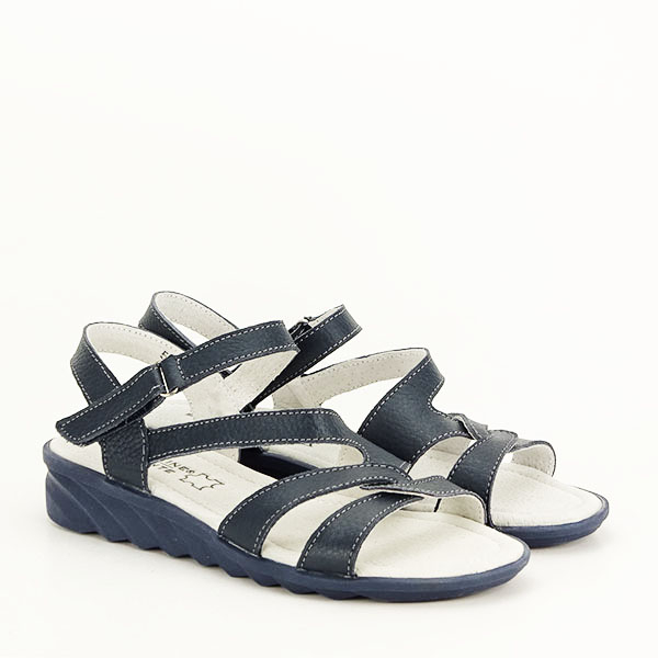Sandale bleumarin din piele naturala Suzana [2]