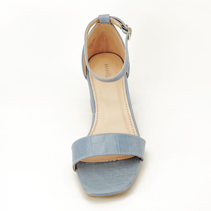 Sandale albastre cu toc gros Bella 3