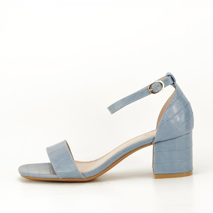 Sandale blue cu toc gros Bella