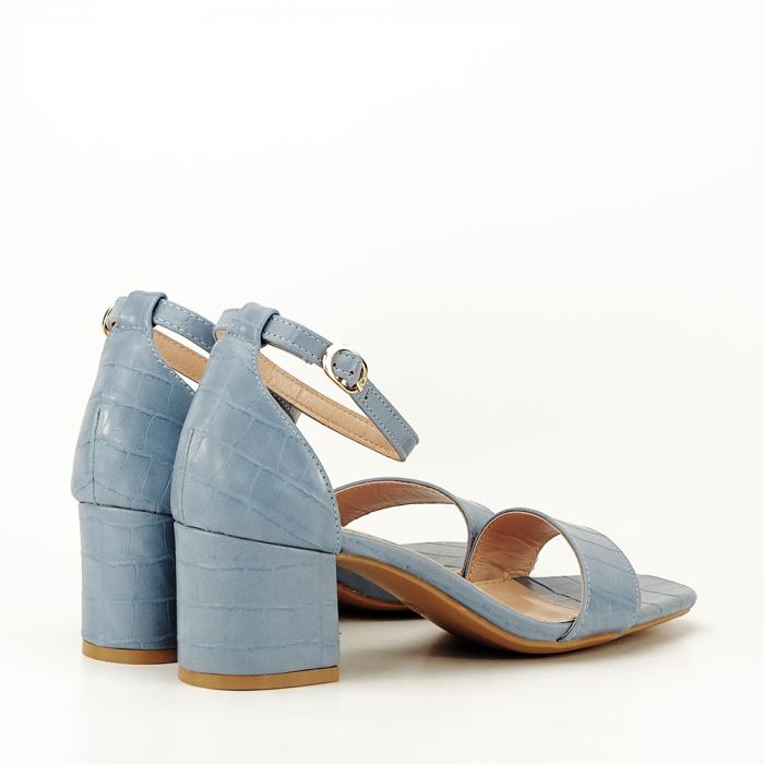 Sandale albastre cu toc gros Bella 2