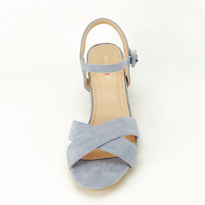 Sandale albastre cu toc mic Natalia [3]