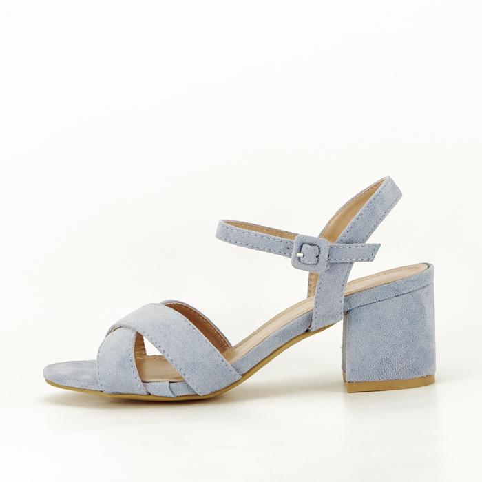 Sandale albastre cu toc mic Natalia [0]