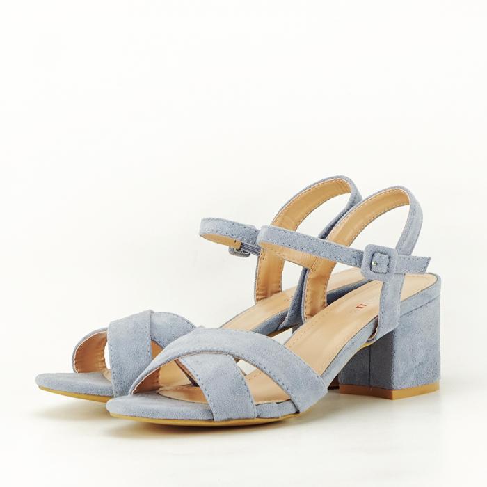 Sandale albastre cu toc mic Natalia [1]