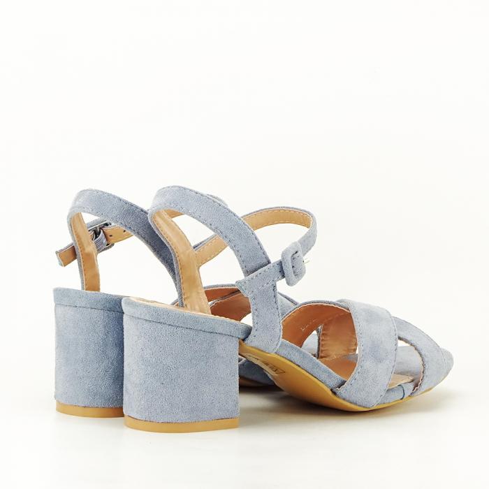 Sandale albastre cu toc mic Natalia [2]