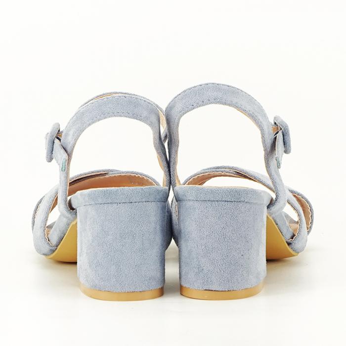 Sandale albastre cu toc mic Natalia [7]
