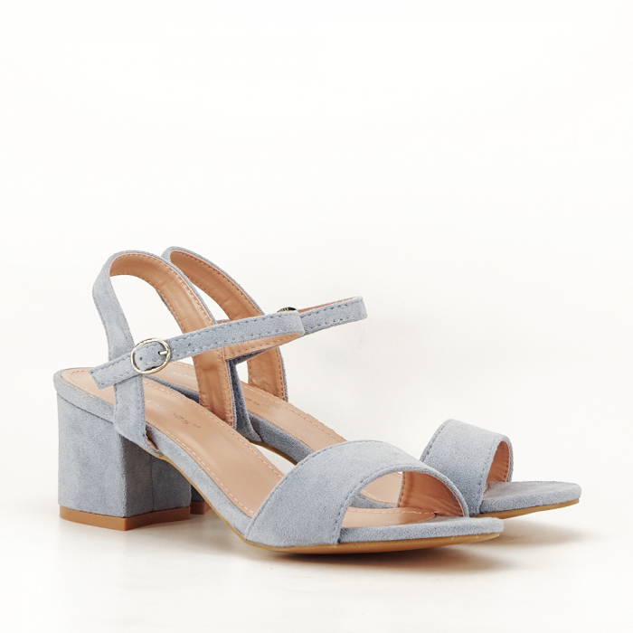 Sandale blue cu toc mic Vanesa [4]