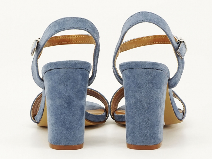 Sandale bleu cu toc gros Iris 3