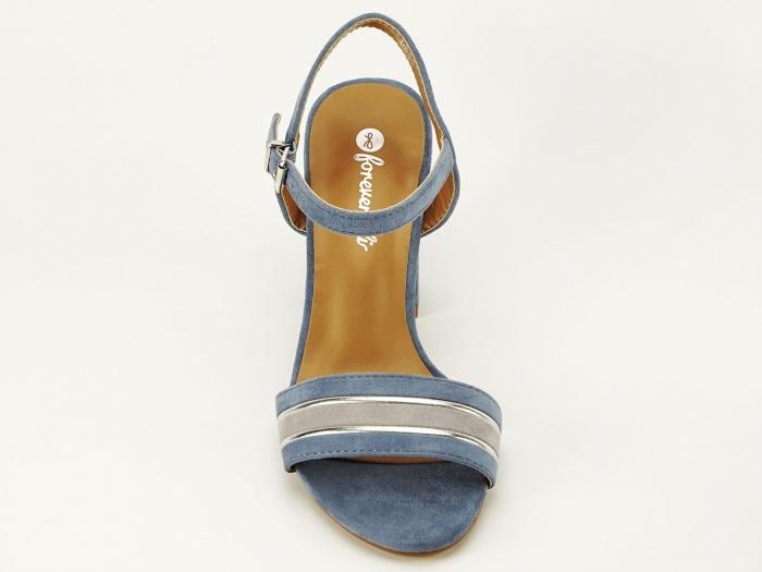 Sandale bleu cu toc gros Iris 5
