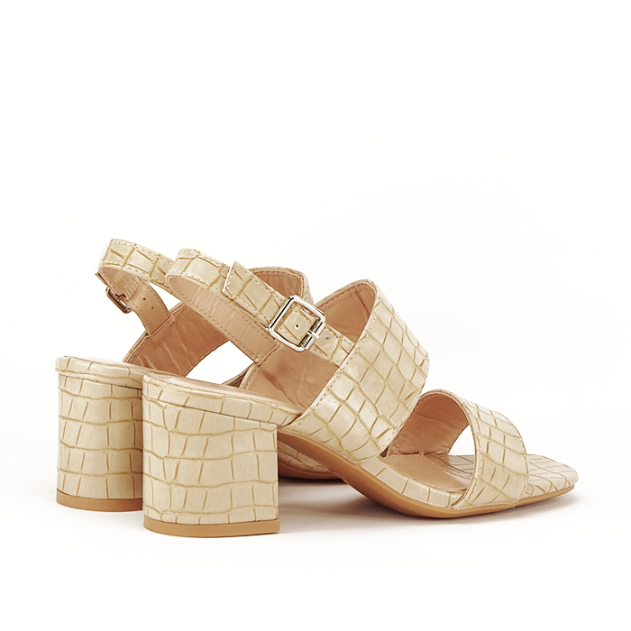 Sandale bej cu toc mic Edith [4]