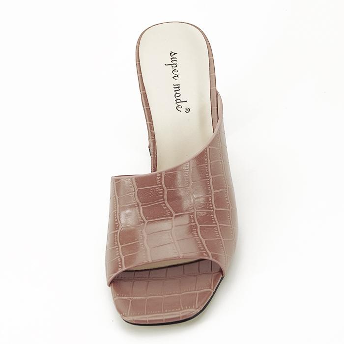 Sandale cu toc roz plamaniu Eva 2