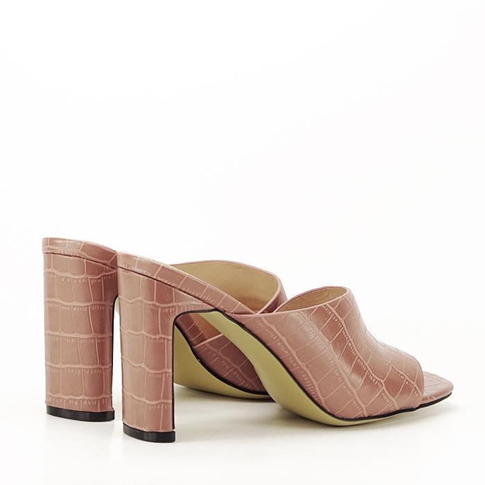 Sandale cu toc roz plamaniu Eva 3
