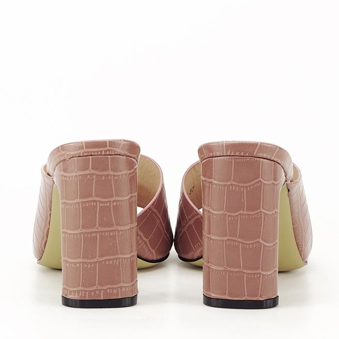 Sandale cu toc roz plamaniu Eva 4