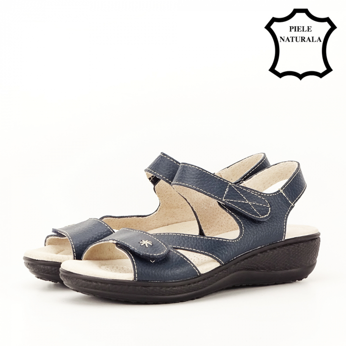 Sandale bleumarin din piele naturala Sara [1]
