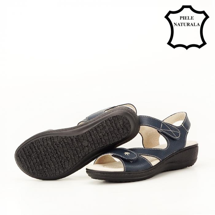 Sandale bleumarin din piele naturala Sara [5]