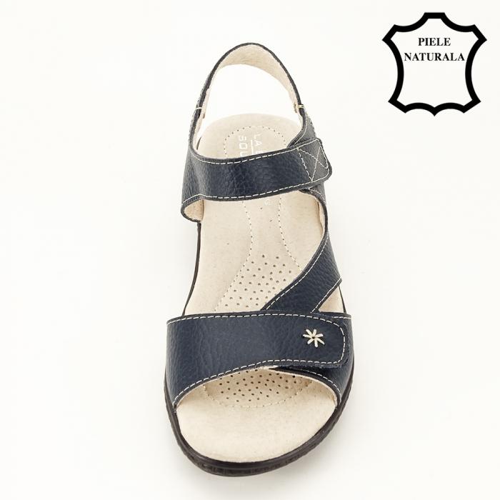 Sandale bleumarin din piele naturala Sara [2]