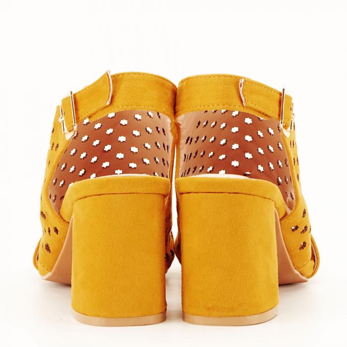Sandale perforate galben mustar Penelope [4]