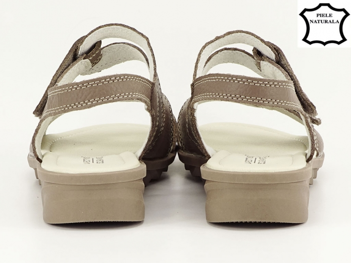 Sandale dama kaki din piele naturala Iasmina 3