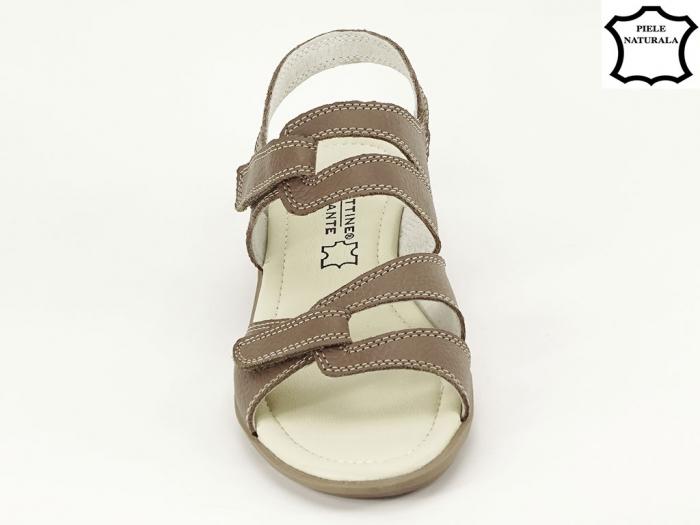 Sandale dama kaki din piele naturala Iasmina 2