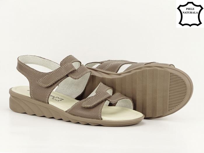 Sandale dama kaki din piele naturala Iasmina 5