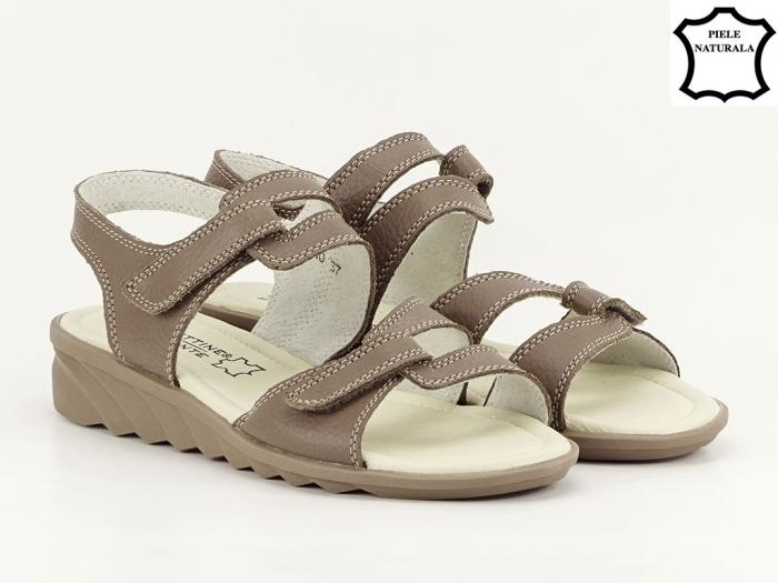 Sandale dama kaki din piele naturala Iasmina 1