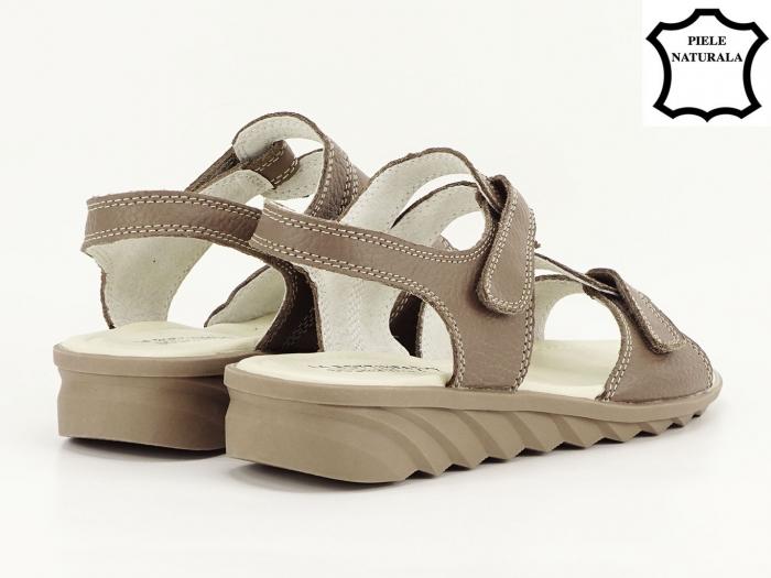 Sandale dama kaki din piele naturala Iasmina 4
