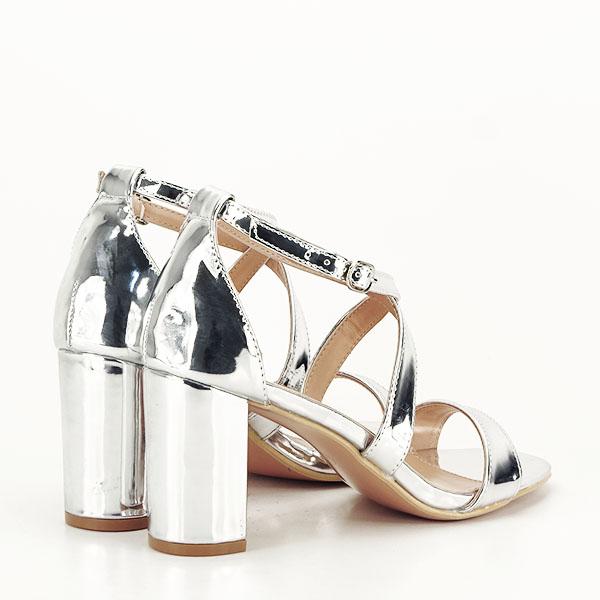 Sandale elegante argintii Bella [4]