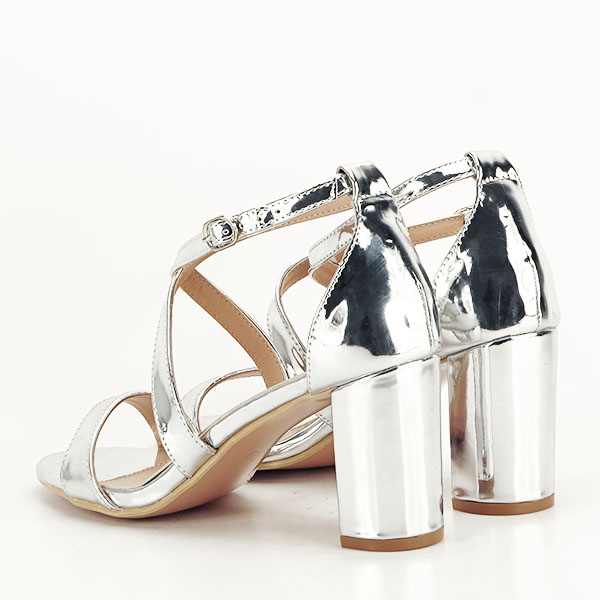 Sandale elegante argintii Bella [3]