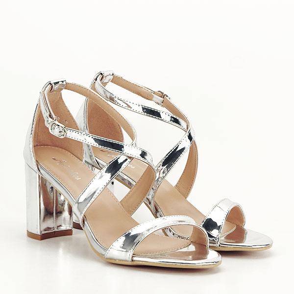 Sandale elegante argintii Bella [2]