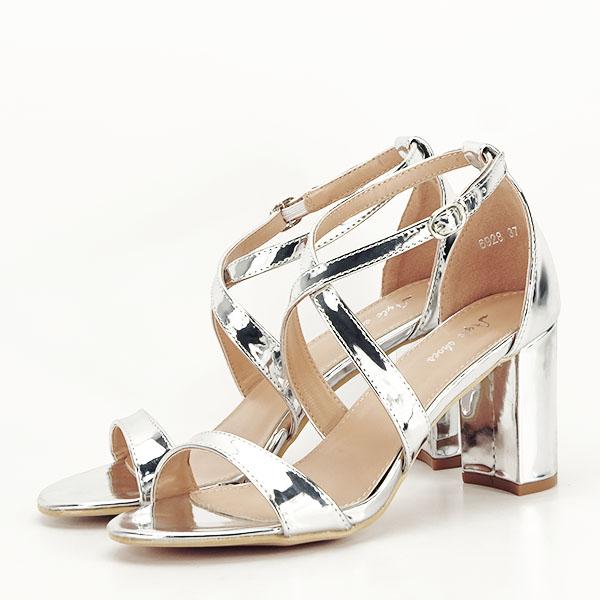 Sandale elegante argintii Bella [0]
