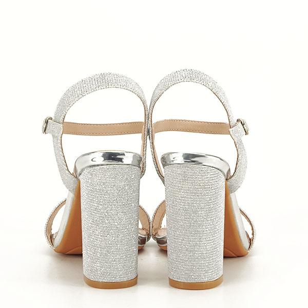 Sandale elegante argintii Estera [4]
