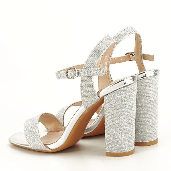 Sandale elegante argintii Estera [3]