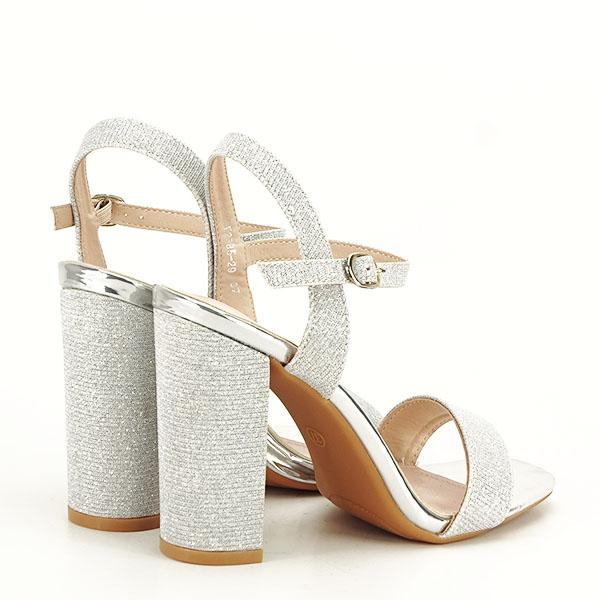 Sandale elegante argintii Estera [5]