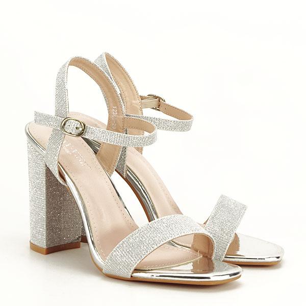Sandale elegante argintii Estera [2]