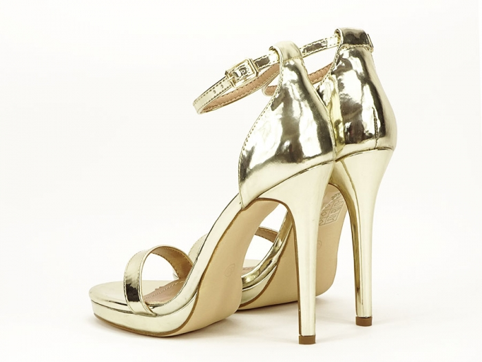 Sandale elegante aurii cu toc inalt Dorothy 3