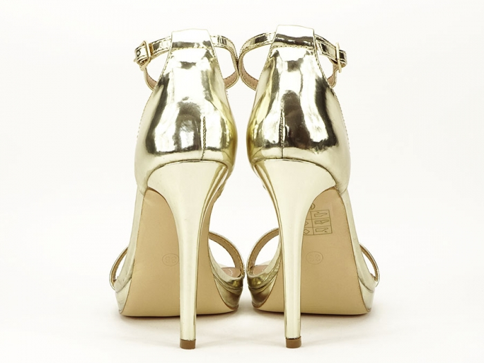 Sandale elegante aurii cu toc inalt Dorothy 4