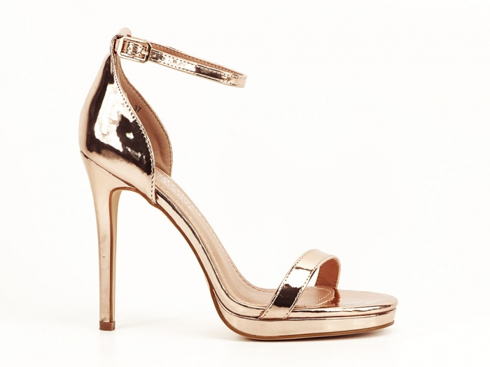 Sandale elegante champagne cu toc inalt Dorothy 8