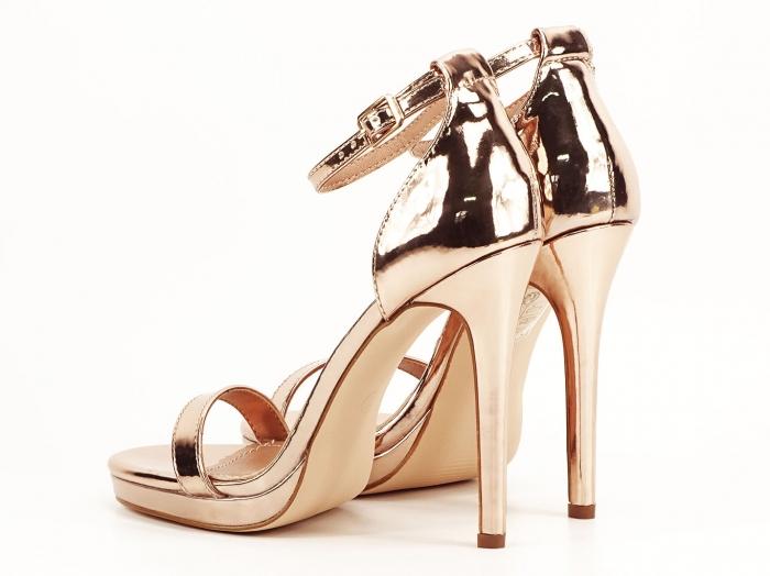 Sandale elegante champagne cu toc inalt Dorothy 4