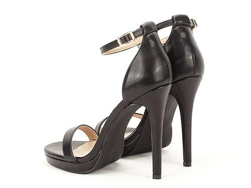 Sandale negre elegante cu toc inalt Dorothy 4