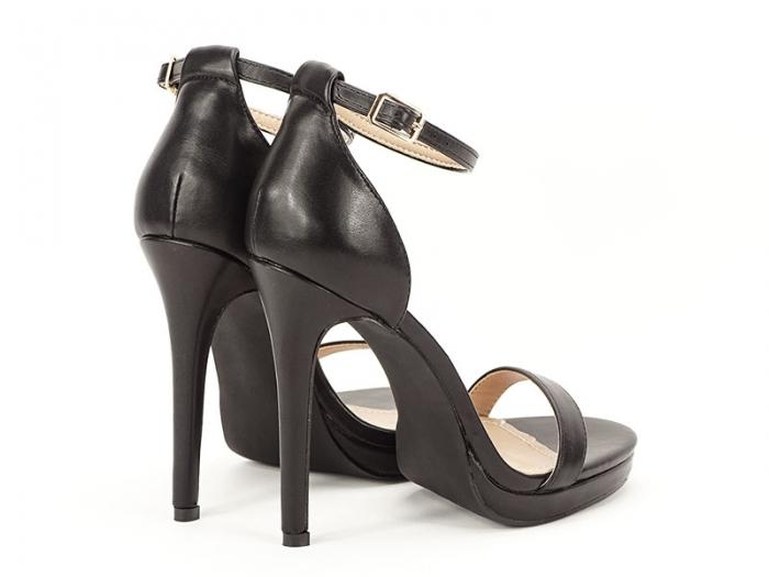 Sandale negre elegante cu toc inalt Dorothy 2