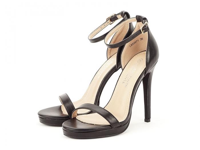Sandale negre elegante cu toc inalt Dorothy 7