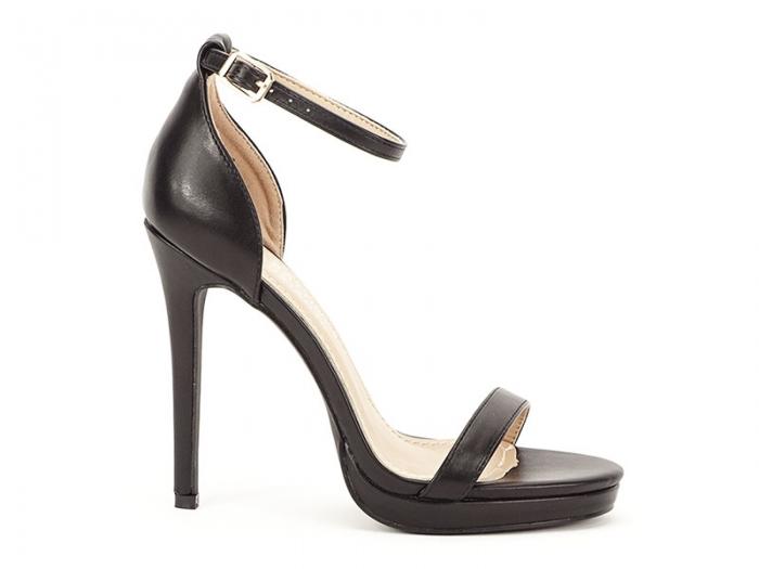 Sandale negre elegante cu toc inalt Dorothy 0