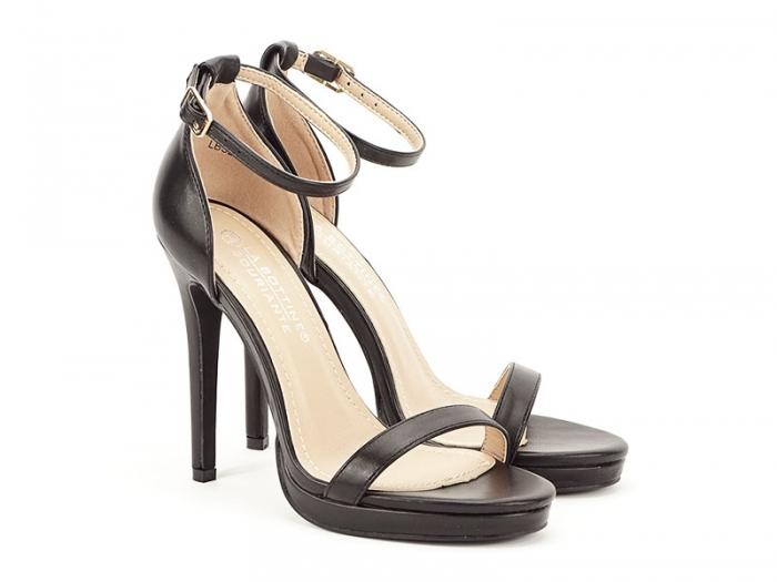 Sandale negre elegante cu toc inalt Dorothy 1