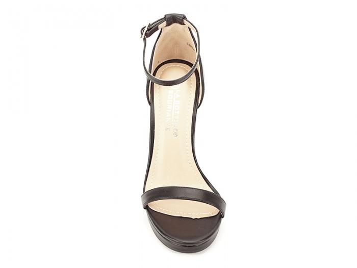 Sandale negre elegante cu toc inalt Dorothy 5
