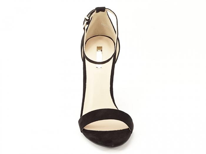 Sandale negre elegante cu toc gros si pietre pe toc Rosa 5