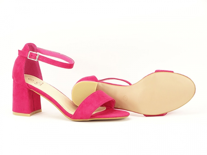 Sandale fuchsia cu toc mic Sevilia 5