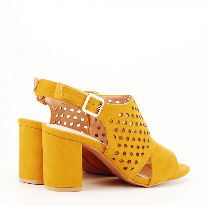 Sandale perforate galben mustar Penelope [3]