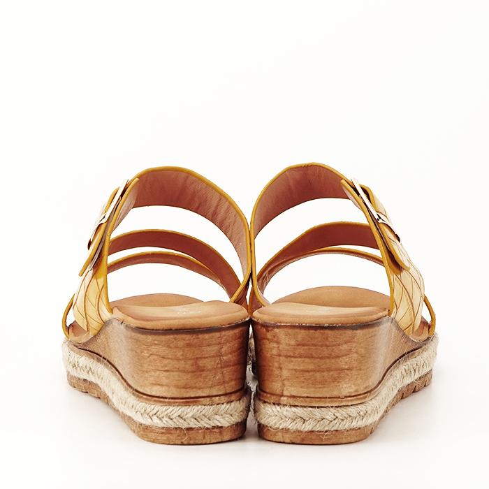 Sandale galbene cu platforma Florida 4
